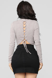 Watch My Back Top - Mocha