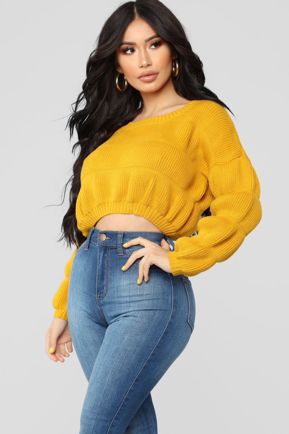 Don't Keep Me Waiting Sweater - Mustard