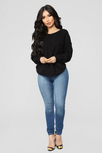 Falls Favorite Girl Sweater II - Black