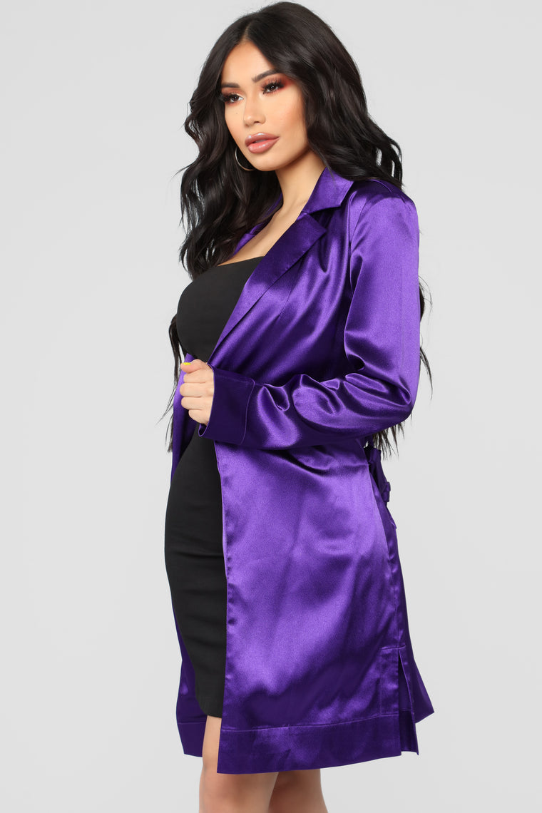 What A Gem Jacket - Purple