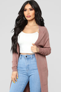 Late Afternoon Cardigan - Mauve