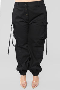 Walk It Talk It Cargo Joggers - Black