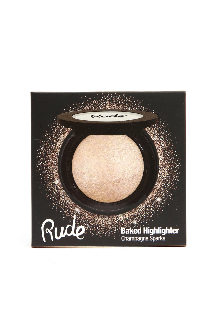 Rude Cosmetics Baked Highlighter Shimmer - Champagne Sparks