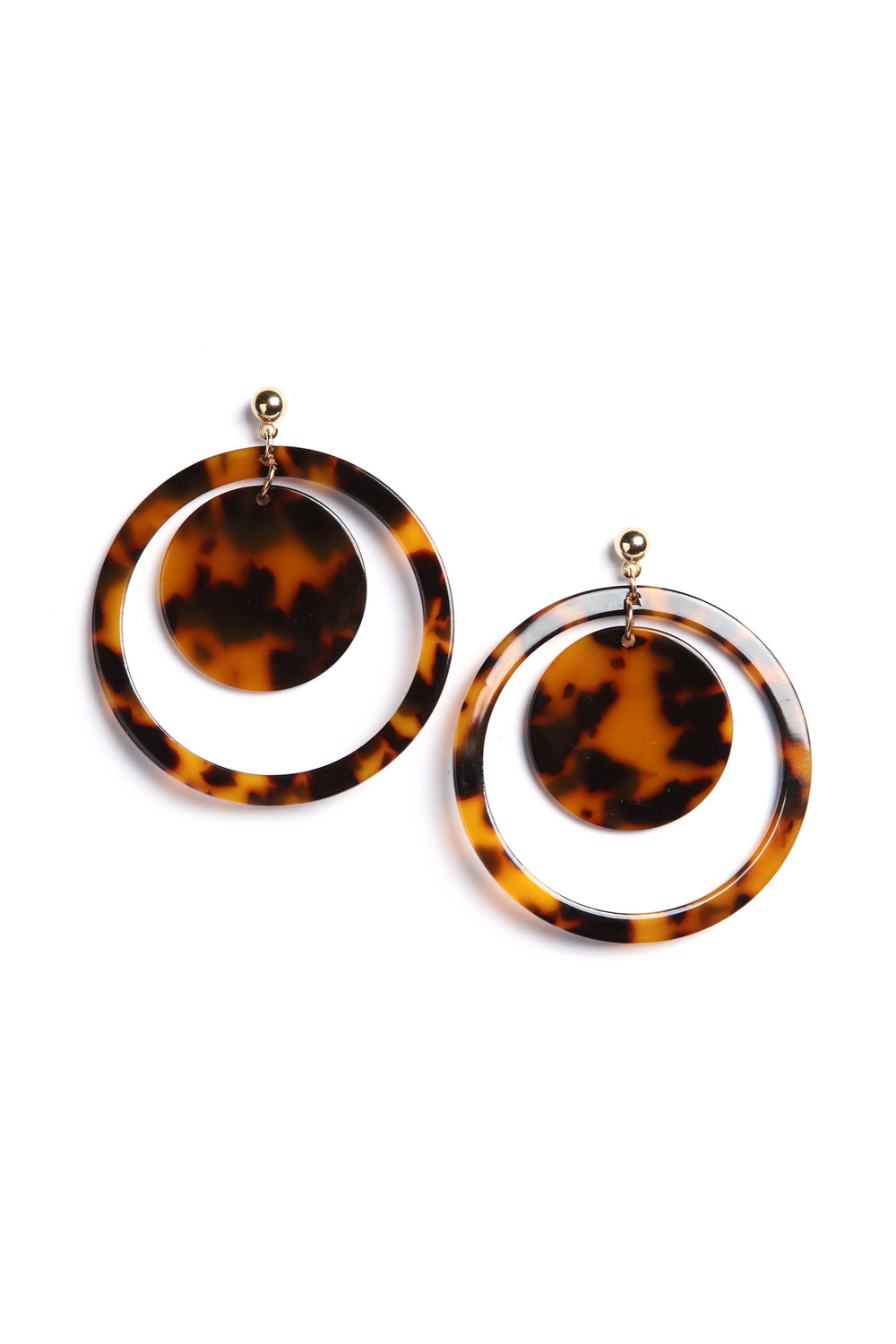 Let's Circle Back Earrings - Brown