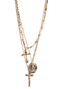 Don't Cross Me Necklace - Gold