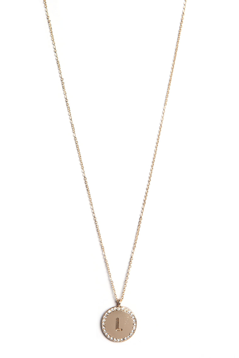 Unwritten L Necklace - Gold