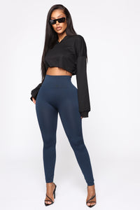 Smooth It Out High Rise Legging - Navy Angle 2