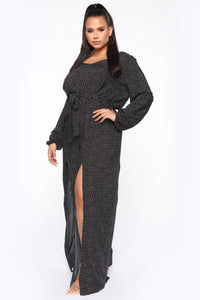 Shanel Wide Leg Jumpsuit - Black/White Angle 3