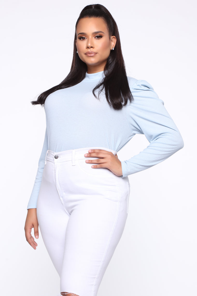 Take Your Time Long Sleeve Top - Blue