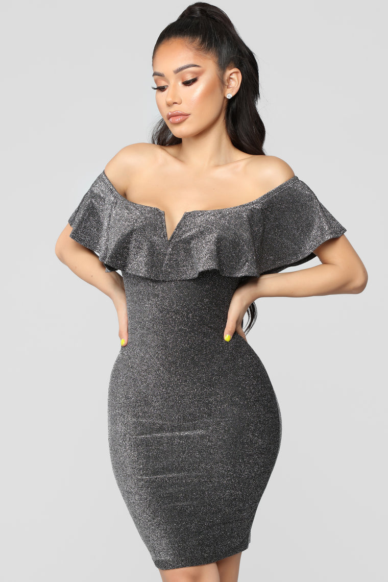 Love You Like I Love You Dress - Silver
