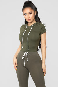 Tennis Time Short Sleeve Set - Olive
