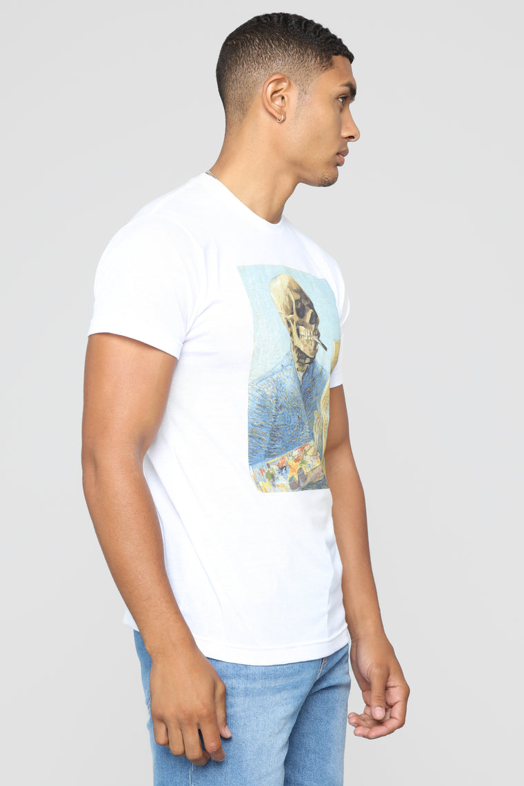 Portrait Skull Short Sleeve Tee - White