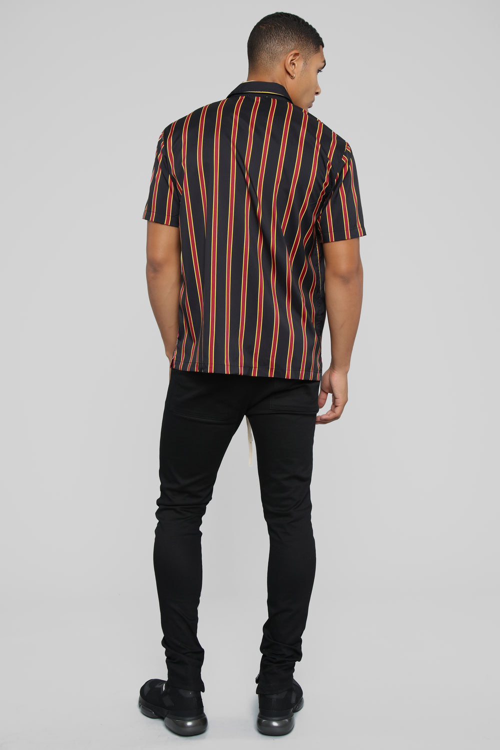 Julian Short Sleeve Woven Top - Black/Combo