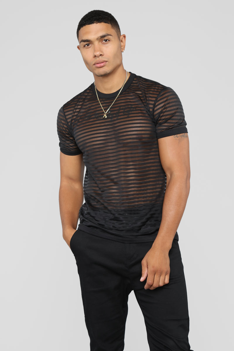 Transparent Vibes Short Sleeve Tee - Black