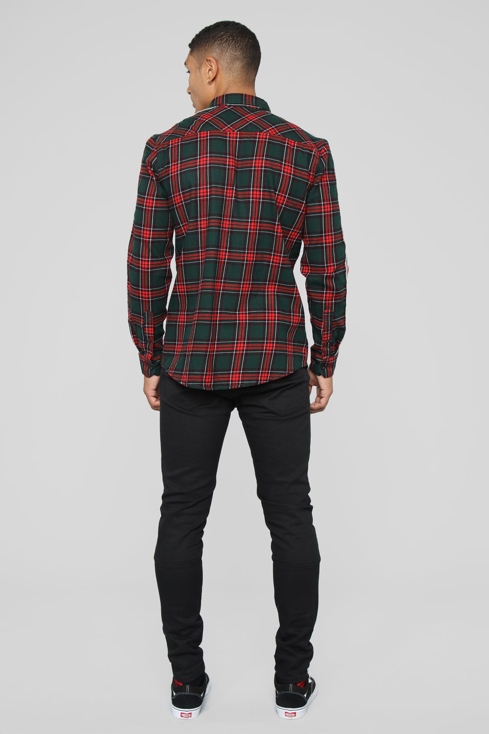 Antonio Long Sleeve Flannel Top - Red/Combo