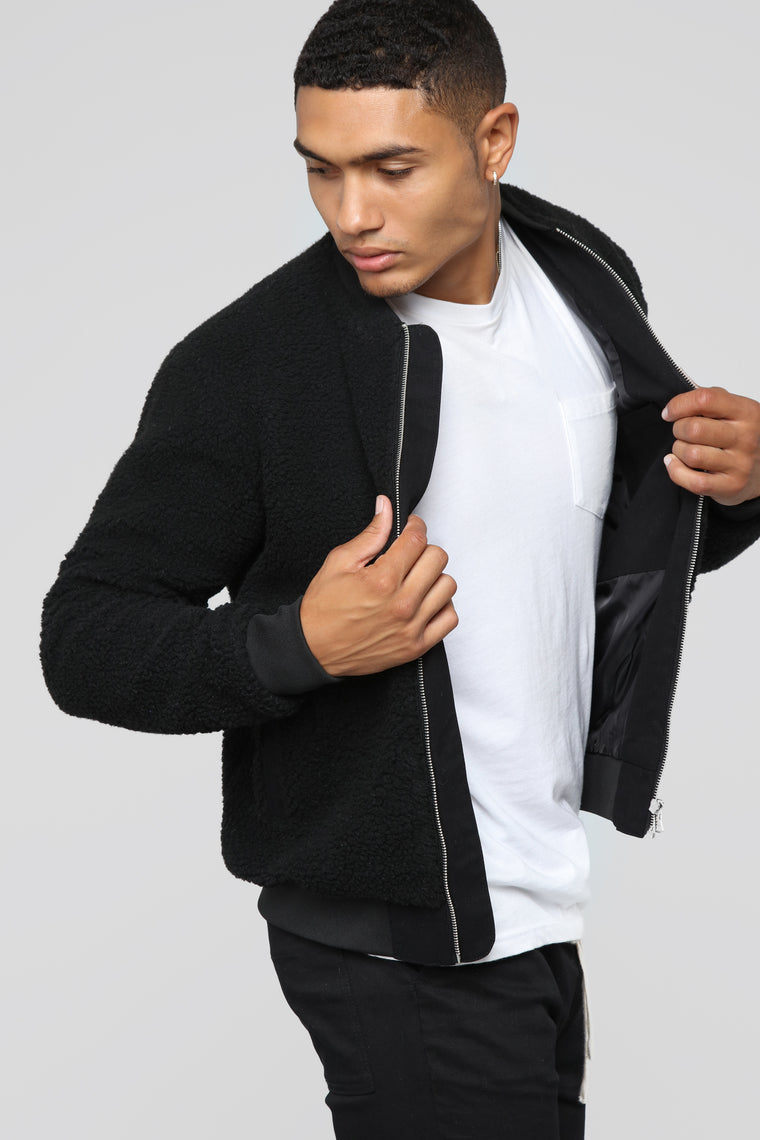 Scotty Sherpa Jacket - Black