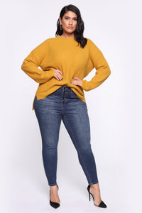 In My Heart Sweater - Mustard Angle 7