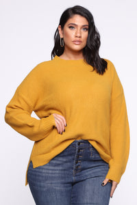 In My Heart Sweater - Mustard Angle 6