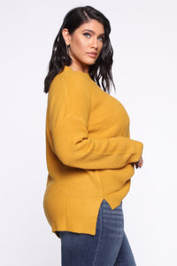 In My Heart Sweater - Mustard Angle 8