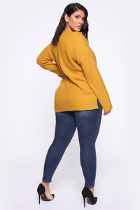 In My Heart Sweater - Mustard Angle 10