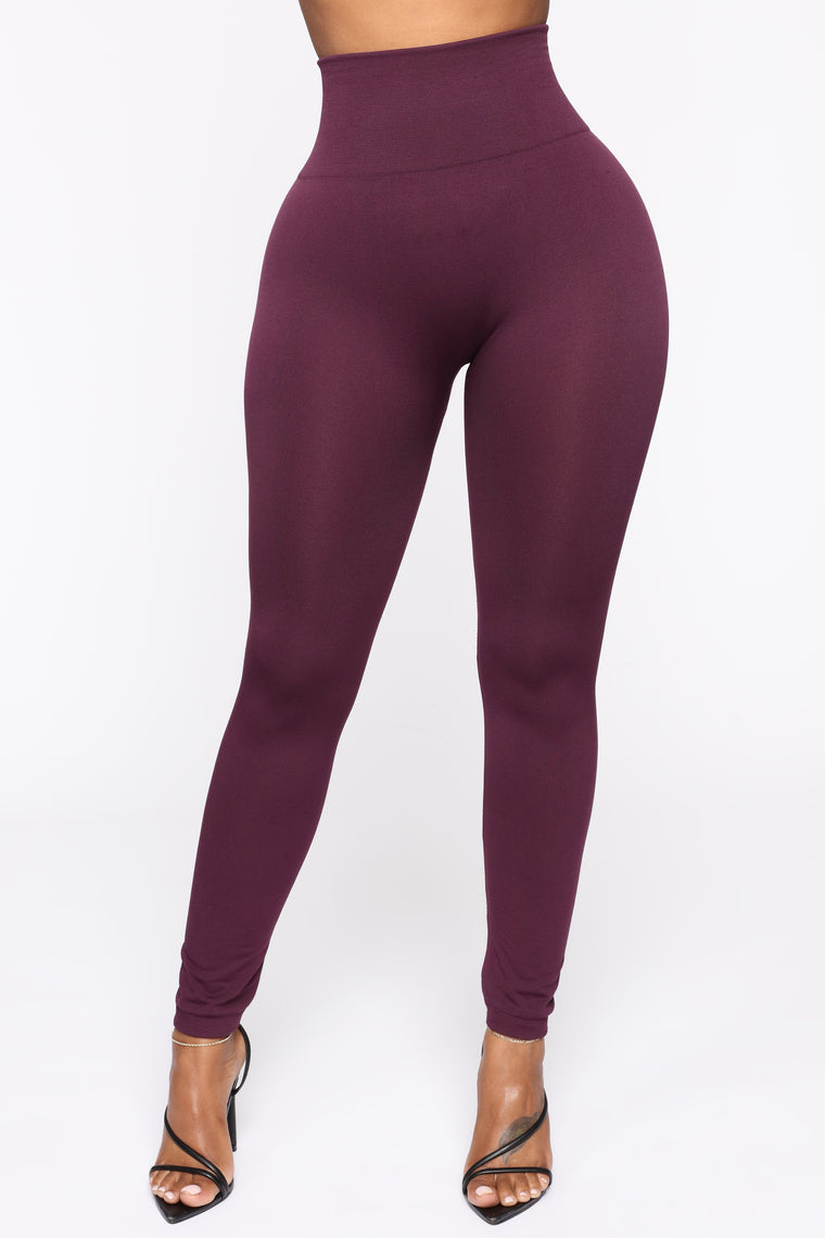 Smooth It Out High Rise Legging - Plum