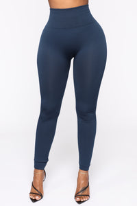 Smooth It Out High Rise Legging - Navy Angle 1