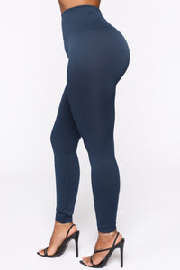 Smooth It Out High Rise Legging - Navy Angle 3