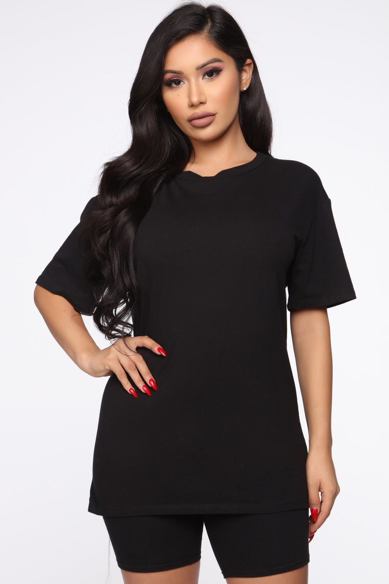 Believe In Yourself Tunic Top - Black