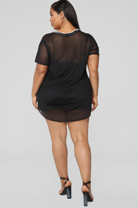 Chill Out Bro Mesh Dress - Black