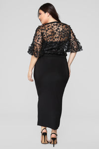 Love And Lace Chiffon Top - Black Angle 13