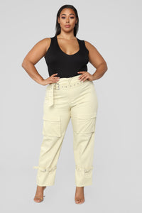 We Are So Over Cargo Pants - Khaki