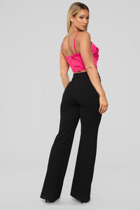 Love Fame Cropped Top - Pink