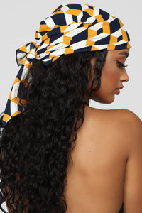 Heading Your Way Headscarf - Black/Yellow
