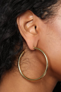 Hoop Not Whom Earrings - Gold