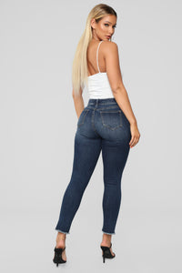 Rock N' Rollin' Ankle Jeans - Dark Denim