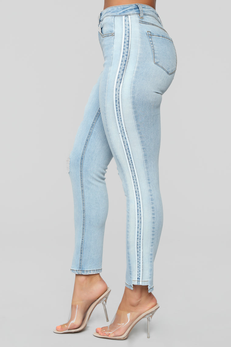 Mix It Up Skinny Jeans - Light Blue Wash