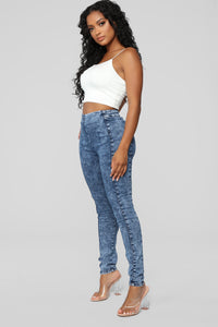 Night And Day High Rise Jeans - Acid Wash