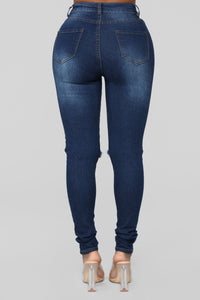 Say Yes To Distress Jeans - Dark Denim Angle 5