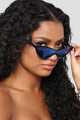 Monroe Cat Eye Sunglasses - Black/Blue