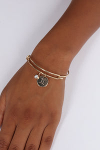 Gemini Please Sign Here Bracelet - Gold