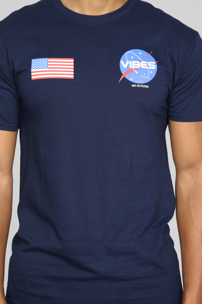 USA Vibes Short Sleeve Tee - Blue