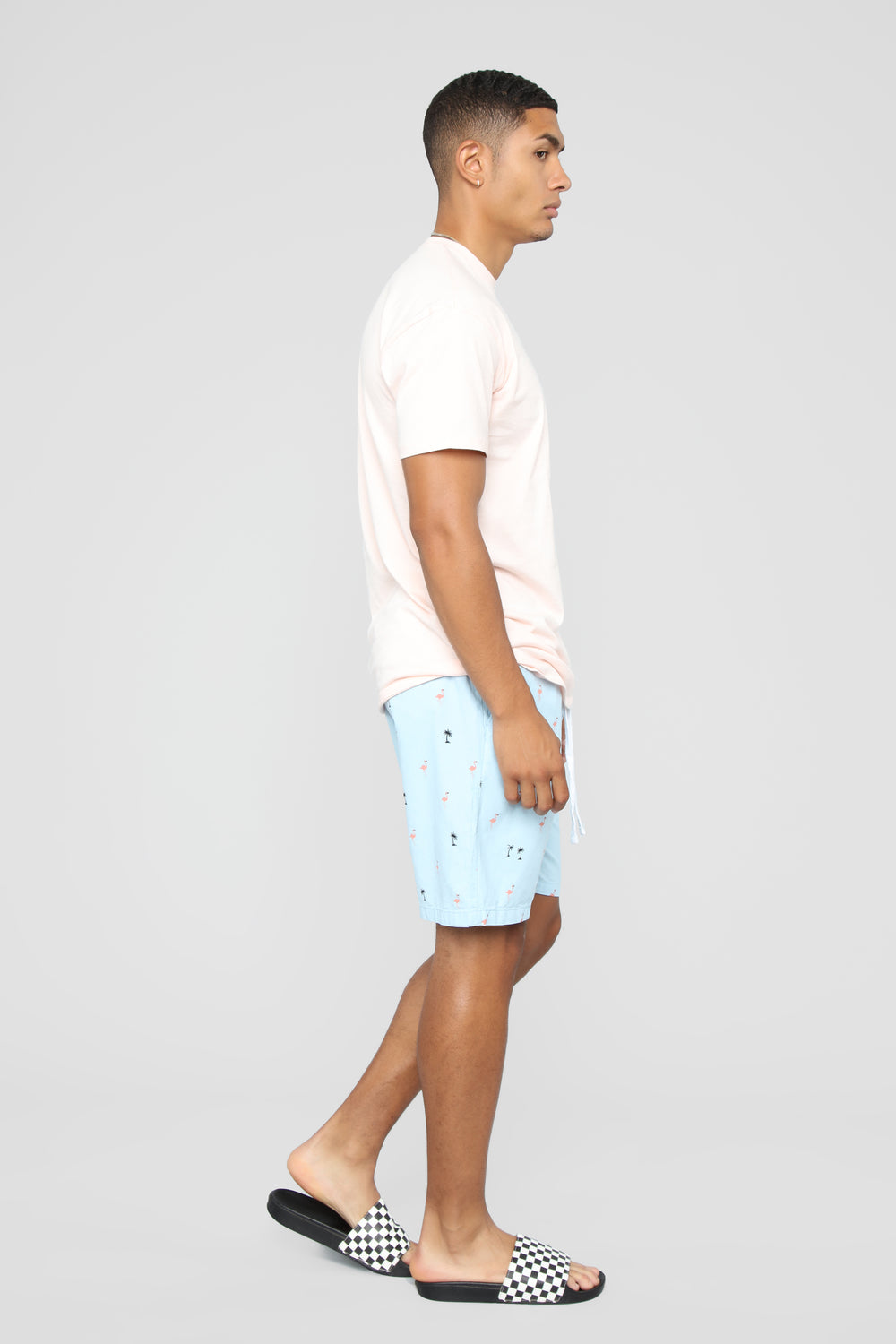 Palm Flamingo Shorts - Blue/combo