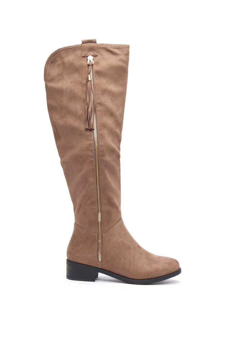 Amorie Flat Boot - Taupe