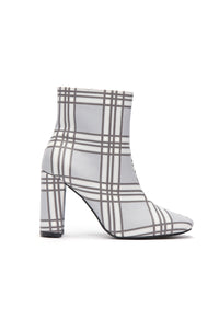 Seriously Cannot Bootie - Grey Plaid