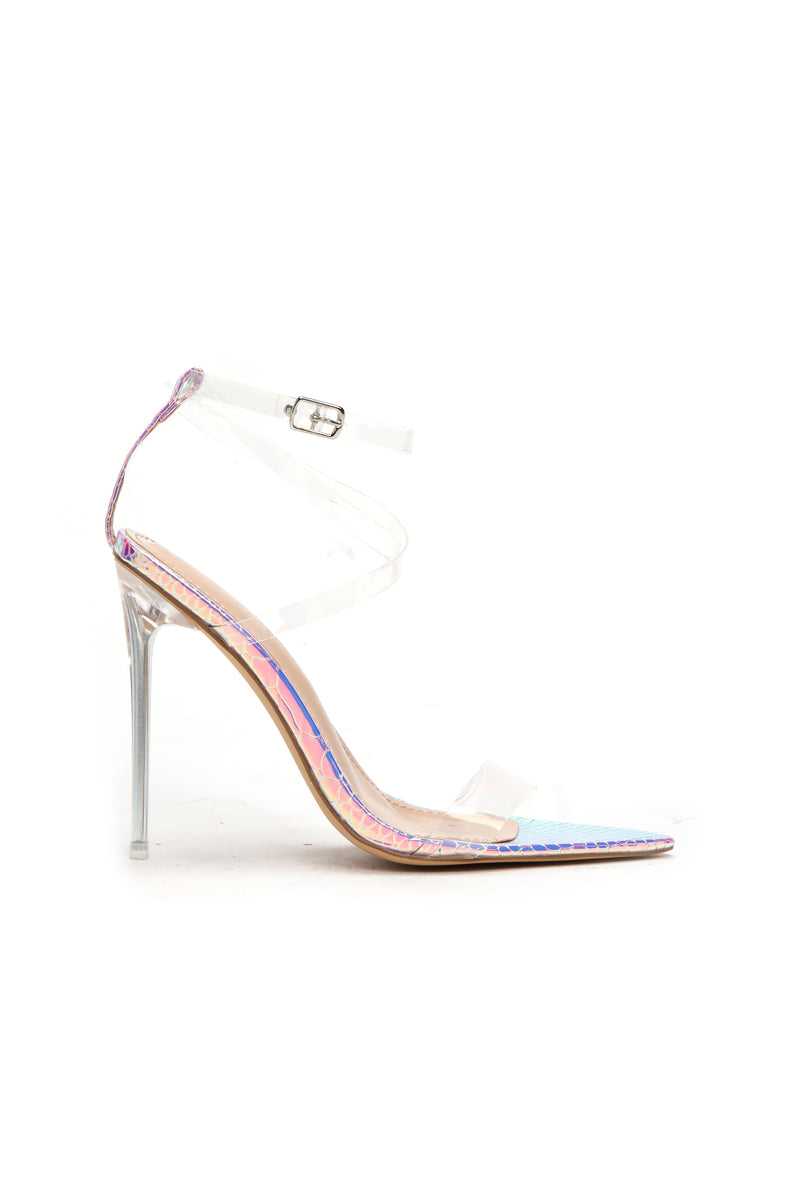 Coming Through Heeled Sandal - Iridescent