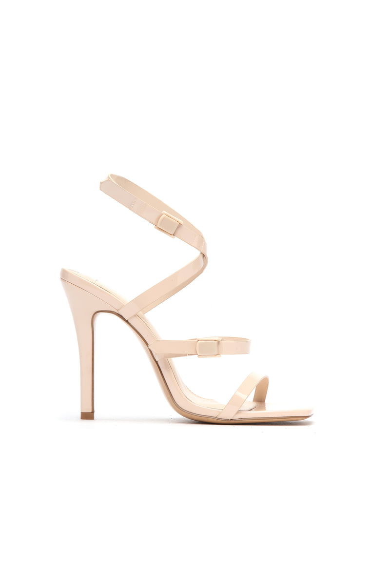 Can I Talk To You Heeled Sandal - Nude