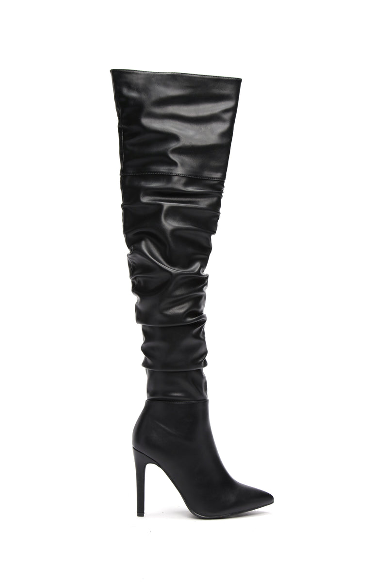 Stay Away From Me Heeled Boot - Black