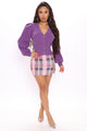 Fall In Love Cardigan - Violet