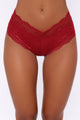 On The Daily Lace Hipster Panty - Red