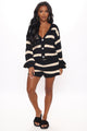 Hannah Cozy Matching Set - Black/combo